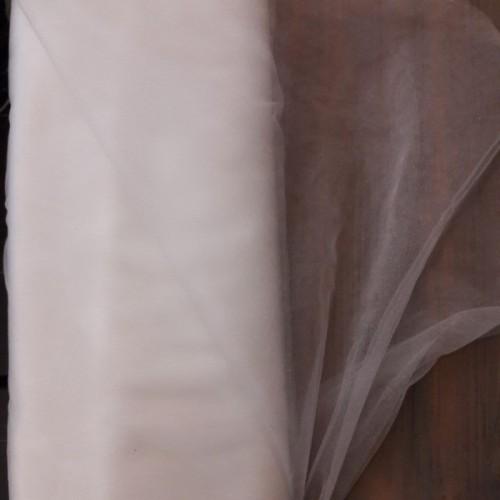 Tissu tulle blanc shinny (par 10cm)