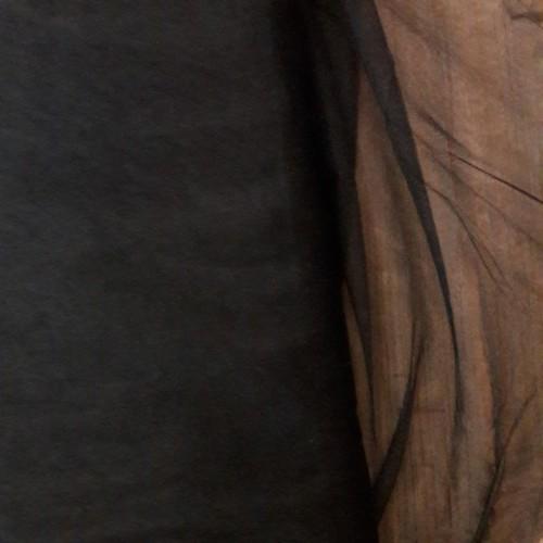 Tissu tulle noir shinny (par 10cm)