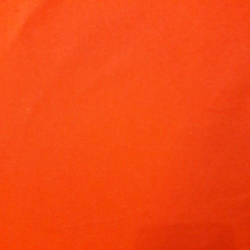 Tissu jersey chat chocolat orange uni (par 10cm)